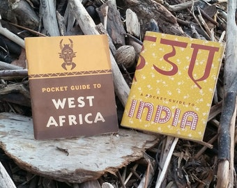 Free Shipping US - Set of 2 WWII U.S. Army Pocket Guides to West Africa and India - 1940s Illustrated Travel Books