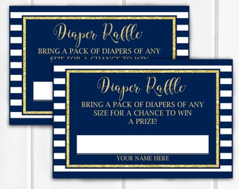 Diaper Raffle Tickets & Sign, Item 204