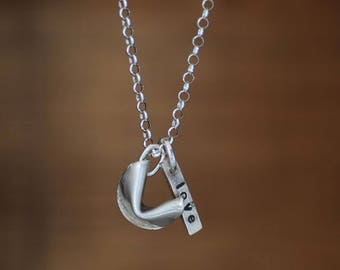 """Fortuna"" necklace. Silver 950. Handmade single piece."