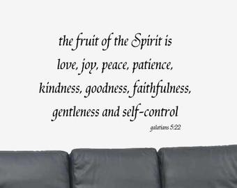 Galatians 5:22 Wall Decal - Bible Verse Wall Decal - Christian Wall Decal - Scripture Wall Decal - The Fruit of the Spirit...