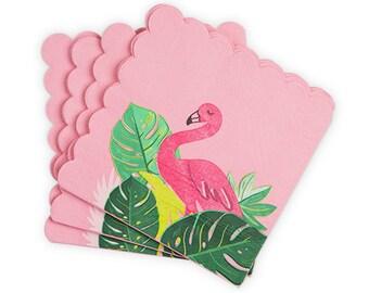 Tropical Flamingo Party Napkins/ Tropical Party Napkins/ Flamingo Party Napkins/ Flamingo Party/ Summer Party Napkins