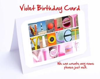 Violet Personalised Birthday Card