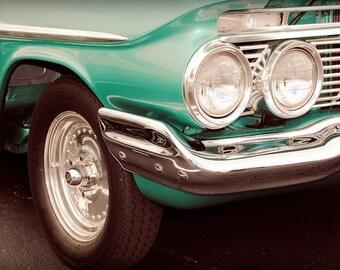 1961 Chevrolet Impala Car Photography, Automotive, Auto Dealer, Muscle, Sports Car, Mechanic, Boys Room, Garage, Dealership Art