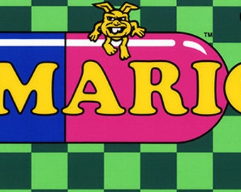 "Vs. Dr Mario Marquee, Arcade, 8 x 36"" Video Game Poster, Print"