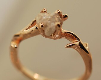 An Elegant Twig, engagement ring,alternative engagement ring,twig ring,twig engagement ring,branch and,twig band
