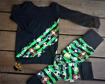 Pants and sweater scalable for children 6-36 months * custom *.