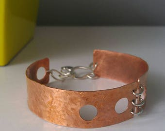 Maya, sterling and copper bracelet