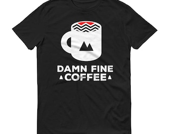 Damn Fine Coffee T-Shirt Vintage Hipster Tee for Men and Women