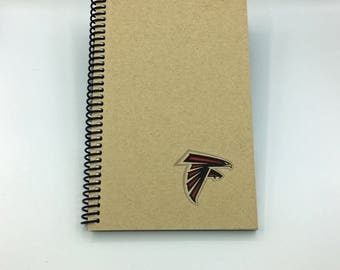 FREE SHIPPING!! Personalized Atlanta Falcons Notebook Football Spiral Journal   5.25 x 8.25   150 pages    Gift for him   Personalized