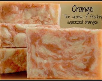 Orange - Rustic Suds Natural - Organic Goat Milk Triple Butter Soap Bar - 5-6oz. Each