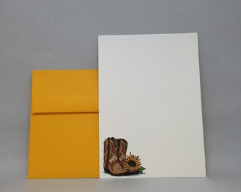 Sunflower & Boots Invitation (Set of 10)