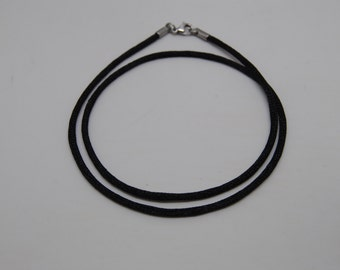 """Black Satin Cord Necklace 18"""" or 20"""" 