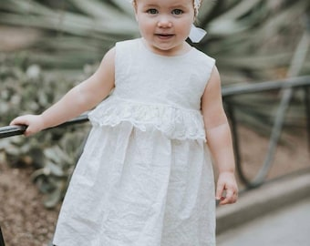 SS18 / WHITE /  baby girl dress / toddler dress / summer dress /toddler girl clothes / white dress / baptism dress / flower girl / wedding