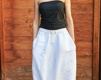 Plus Size Linen Pants, White Harem Pants, White Pants, Women Linen Pants, Harem Trousers, White Linen Pants, Linen Trousers, Casual Pants