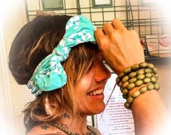 Turquoise headband , adult headbands , knot headband , knot headbands , knotted headband , Birthday gift for her