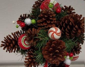 Christmas Kissing Ball Candy Theme