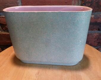 Vintage Shawnee Pottery Vase, Shawnee Vase 1012, Vintage vase, 1960's Shawnee Pottery Vase, Green and Pink decor