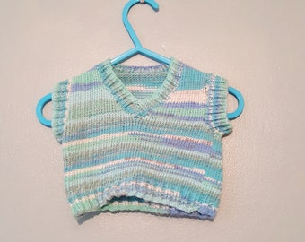 Hand knit sweater, Sweater vest, Baby sweater, Knitted baby sweater, Baby cardigan, Baby shower gift, Baby gift, knit