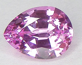 Pink Sapphire Excellent Cut Pear 9 x 7 mm Lab corundum Sapphire Loose Gemstone for Pendant or Statement Ring