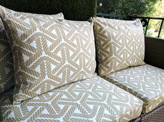 IKEA Geometric OUTDOOR Slip Cover Ikea Cushion Covers Custom