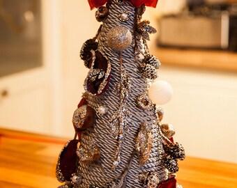 Silver Top Table Xmas Tree Holiday Centrepiece Christmnas Centrepiece Home Decor