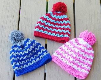 Crochet Hat Pattern, Crochet Beanie Pattern,  Baby Beanie Hat Pattern, Newborn to Woman Sizes, Alexis Beanie