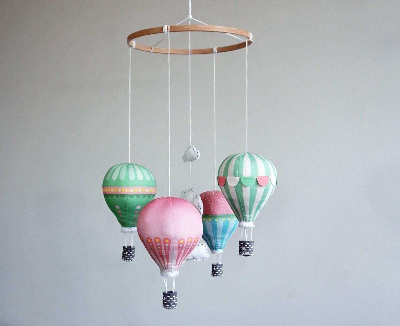 DIY baby mobile kit hot air balloon modern nursery decor