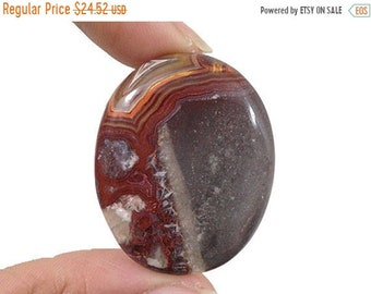 80% SALE Crazy Lace Agate Cabochon Colorful Lacy Gemstone Focal Stone Oval Lapidary Cabochon Loose Red Lace Agate 71Ct (38x31x7 mm) NS15743