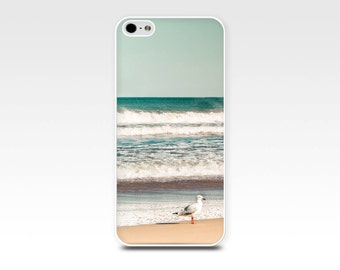 nautical iphone case 5s iphone 6 case 4s iphone 5 4 beach iphone case ocean birds iphone seagulls case nautical water mint green teal summer