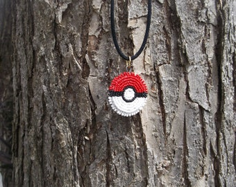 pokemon necklace, native american beadwork