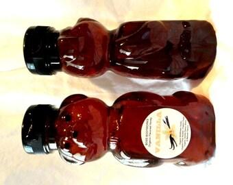 Organic VANILLA Honey - 12 oz flavored - non gmo, wildflower, gluten free (SALE)