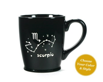 Scorpio Zodiac Constellation Mug - Choose Your Cup Color