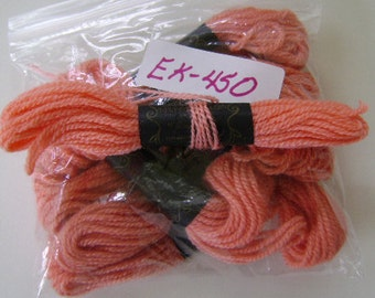 Yarn, Paragon, 100% Wool Crewel Needlepoint, Color #102 Light Salmon, 8.8 Yards