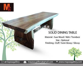 Live Edge Monkey Pod Dining Tables Solid Dining Table