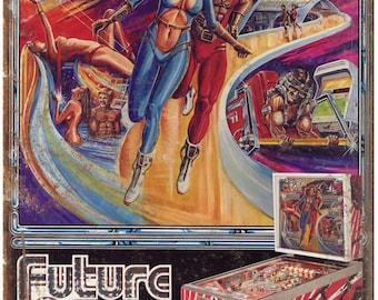 "Bally Pinball Machine Ad Future Spa 10"" X 7"" Reproduction Metal Sign G93"