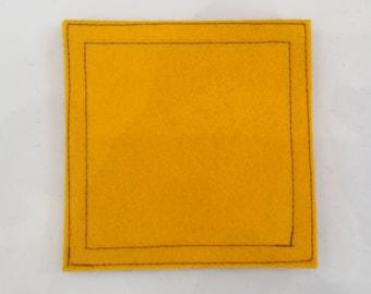 Nautical signal flag letter Q wool felt coaster