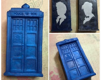 Tardis Soap with Doctor Silhouette