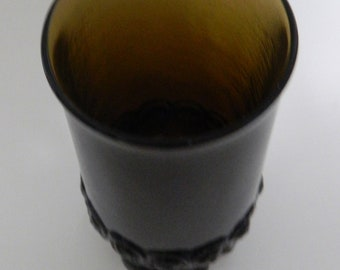 Tiffin Franciscan Madeira Vintage Ice Tea Tumbler Brown Heavy Pressed Stem
