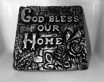 God Bless Our Home Wall Plaque /Paperweight