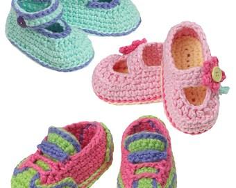 Sophia Grace Collection Crochet Baby Shoes pdf pattern download
