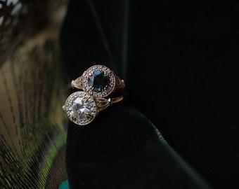 Custom Engagement Ring, Antique Engagement Ring, Diamond Halo Ring, Rose Gold Engagement Ring, Morganite Ring, Moissanite Engagement Ring.