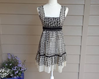 Black and White Checked Sundress.