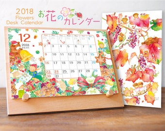 2018 Flowers Desk Calendar CLT-2018