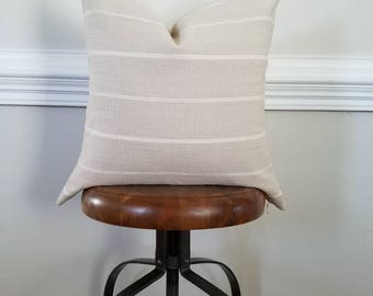 The Flax Stripe Pillow Cover