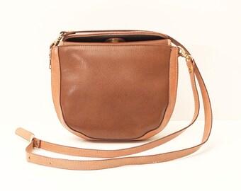 80s • Vintage • Leather • Crossbody Bag • Shoulder Bag • Leather Bag • Leather Shoulder Bag • Brown Bag • Brown Leather Bag • Brown Purse