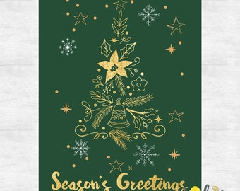 holiday cards / business christmas cards / christmas cards / holiday card set / printed cards