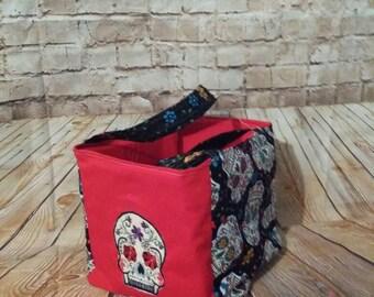 Personalized fabric sugar skull basket
