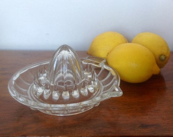 Vintage French Glass Lemon Squeezer. 1960's.