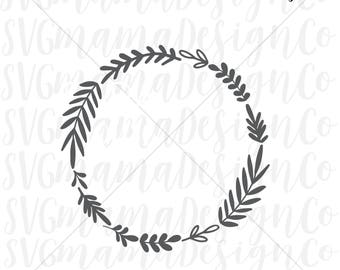 Laurel Wreath SVG Leaf Wreath SVG Vector Image Cut File for Cricut and Silhouette