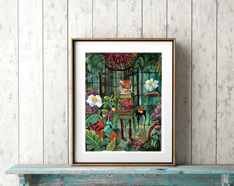 the Tiger's Conservatory ~ PRINT